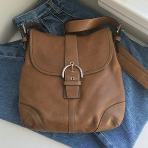 Coach Brown Leather Soho Hobo Bag Purse